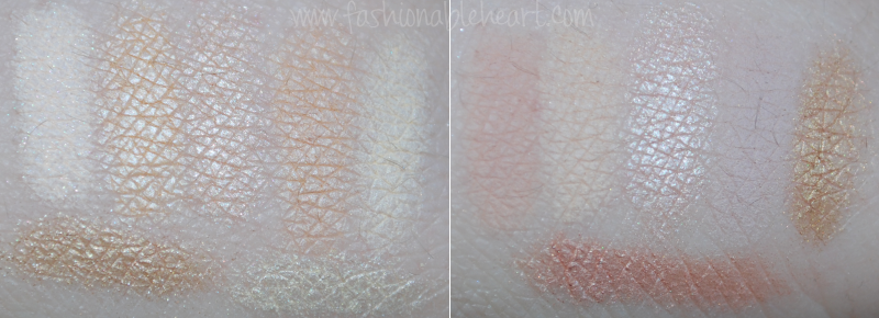 mac cosmetics eyeshadow palette swatches highlight