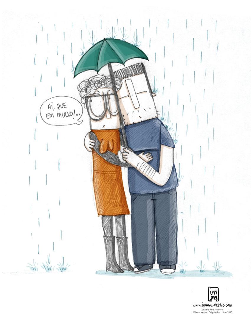 Del país dels coixos: Els efectes de compartir paraigües. ©Imma Mestre Cunillera.
