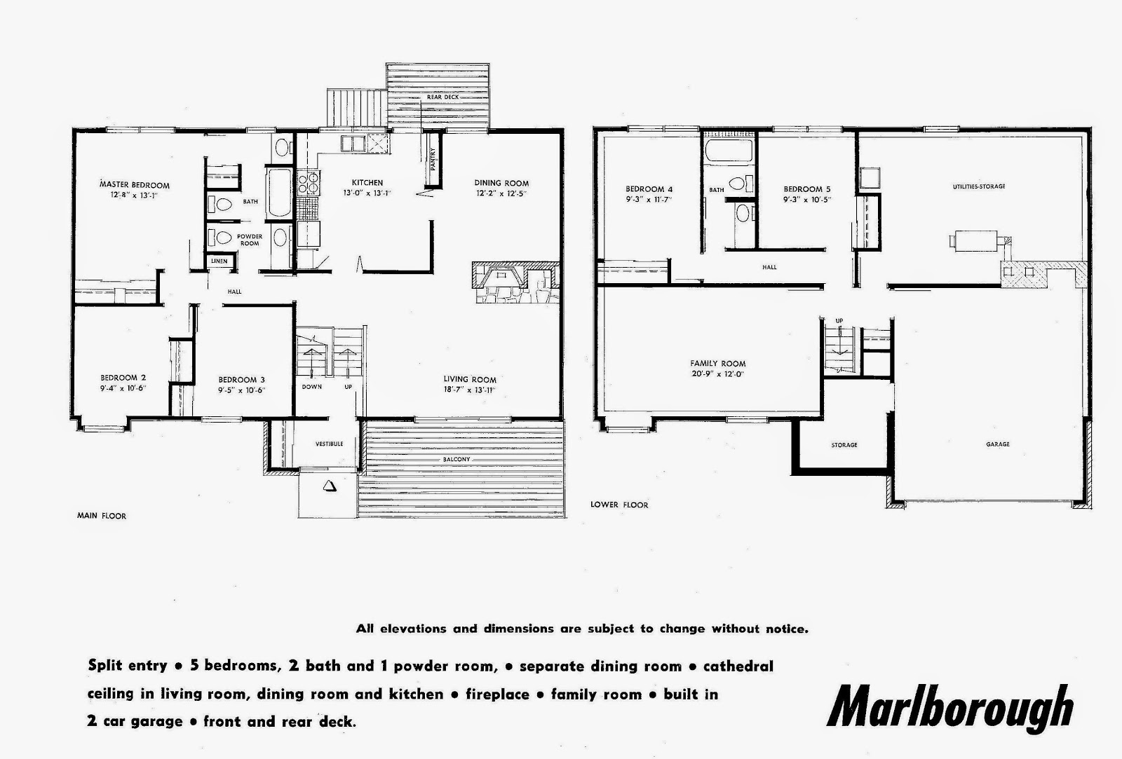 Mid century modern and 1970s era ottawa july 2014 for Horizontal house plans