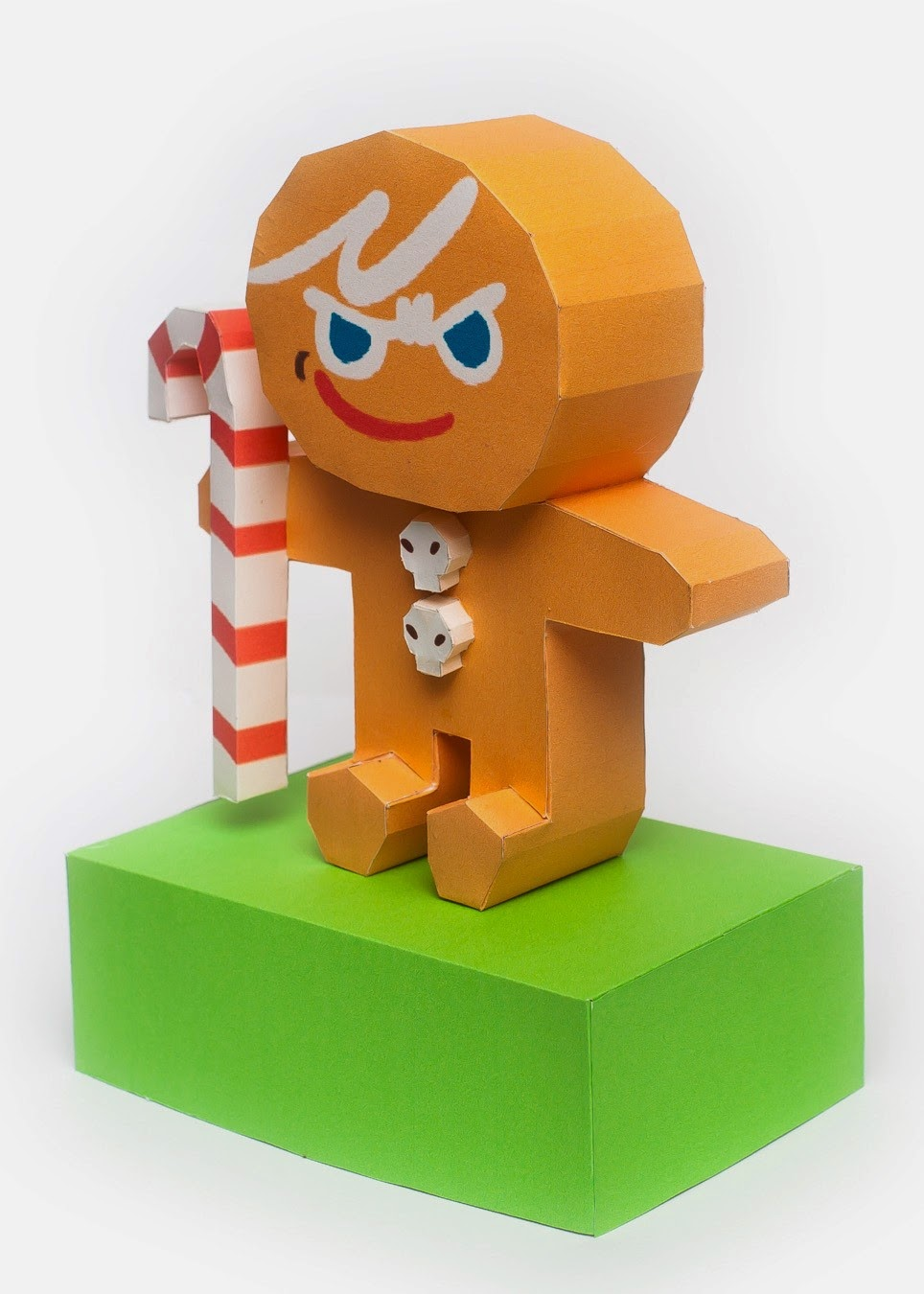 LINE Cookie Run Brave Cookie Papercraft Model Version 2