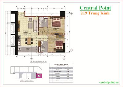 Căn hộ số 8 chung cư Central Point  - diện tích 69,99m2.
