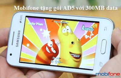 Khuyến mãi AD5 cho thuê bao đăng ký 3G Mobifone trọn gói