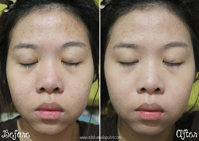 THEFACESHOP Oil Control Water Cushion Review - before after