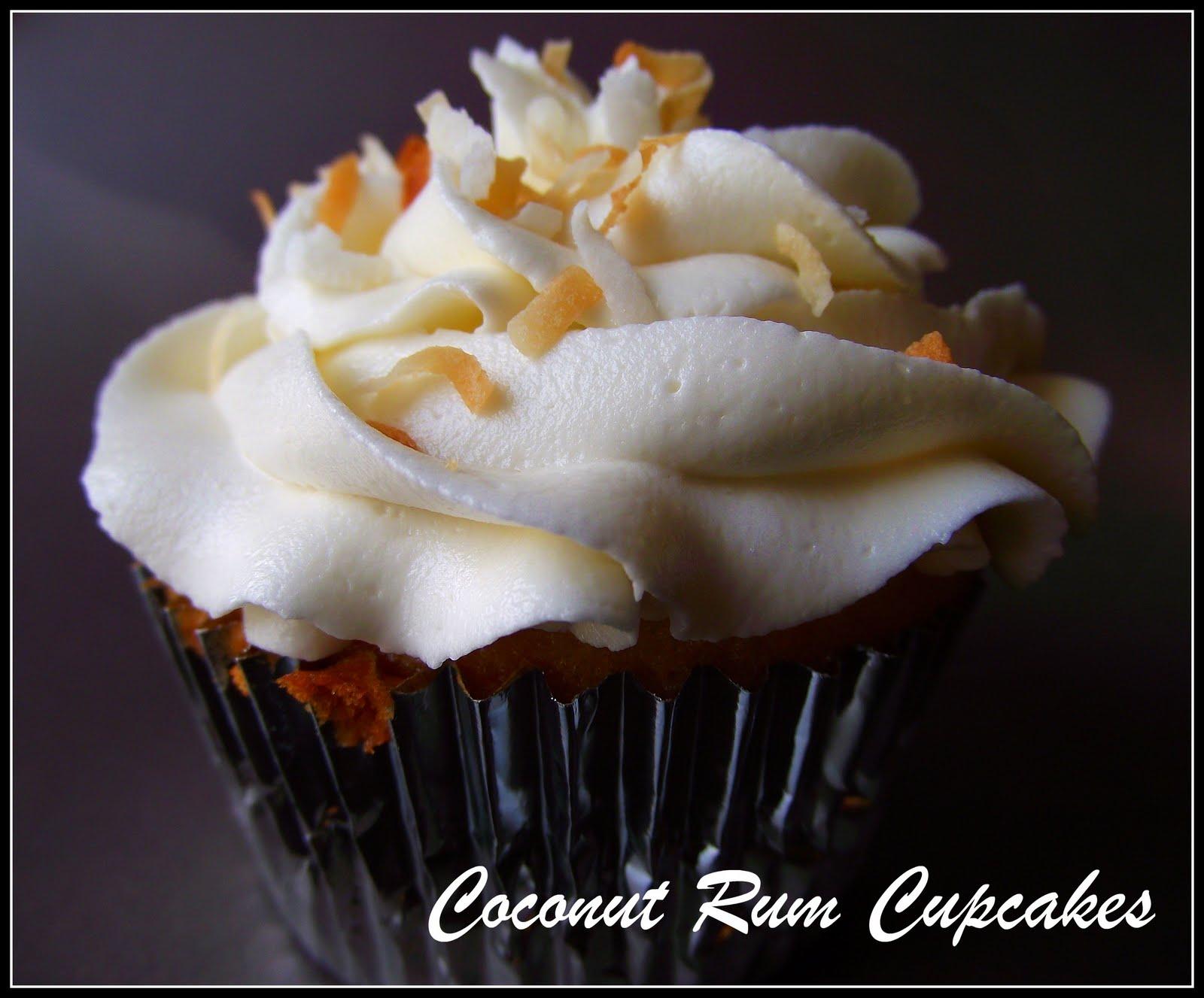 Coconut Rum Cupcakes-Lightened up!