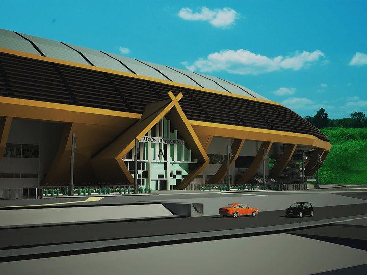 sudah mulai dibangun sejak tahun 2009 untuk menyambut Pekan Olahraga