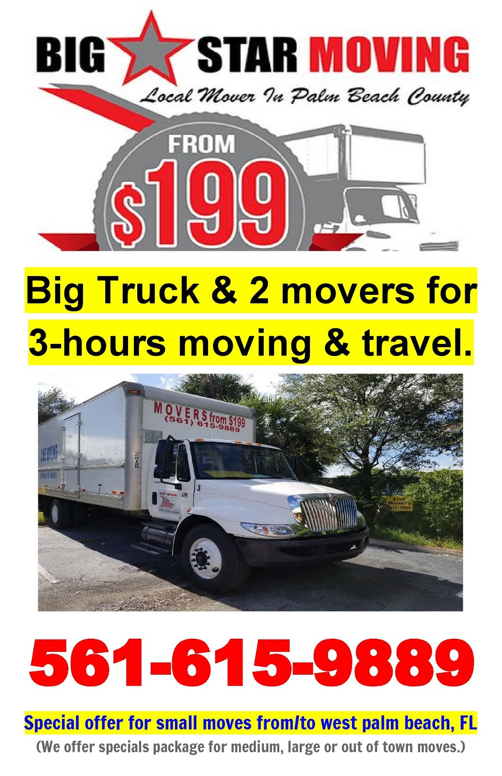 Moving Truck Companies Near Me >> Big Star Moving West Palm Beach Moving Companies From 199 Movers