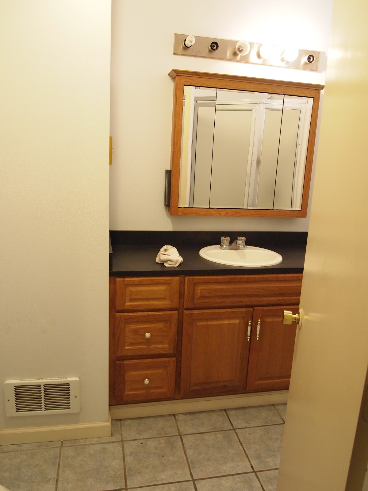 This taylored house bathroom vanity makeover for Bathroom vanity makeover ideas