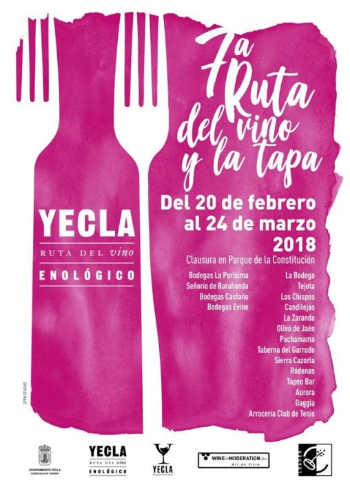 VII Ruta del Vino y la Tapa de Yecla 2018.