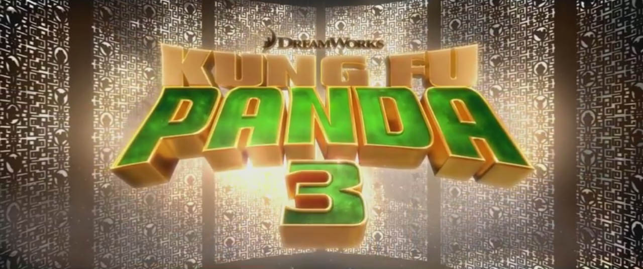 Kung Fu Panda 3 2016 movie title card DreamWorks Animation and Oriental DreamWorks distributed by 20th Century Fox