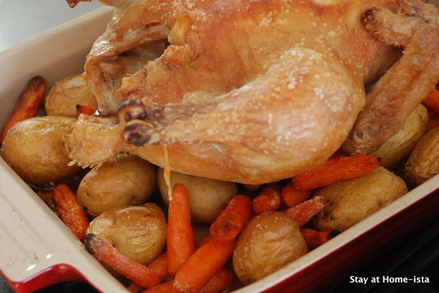Roasted Engagement Chicken with carrots