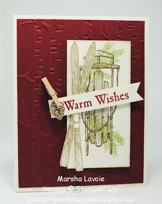 warm wishes stampin up, good greetings
