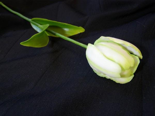 Тюльпан из полимерной глины мастер класс.