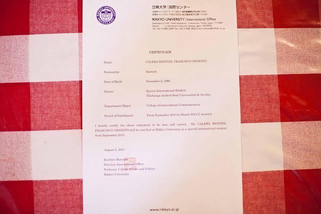 Certificado ingreso