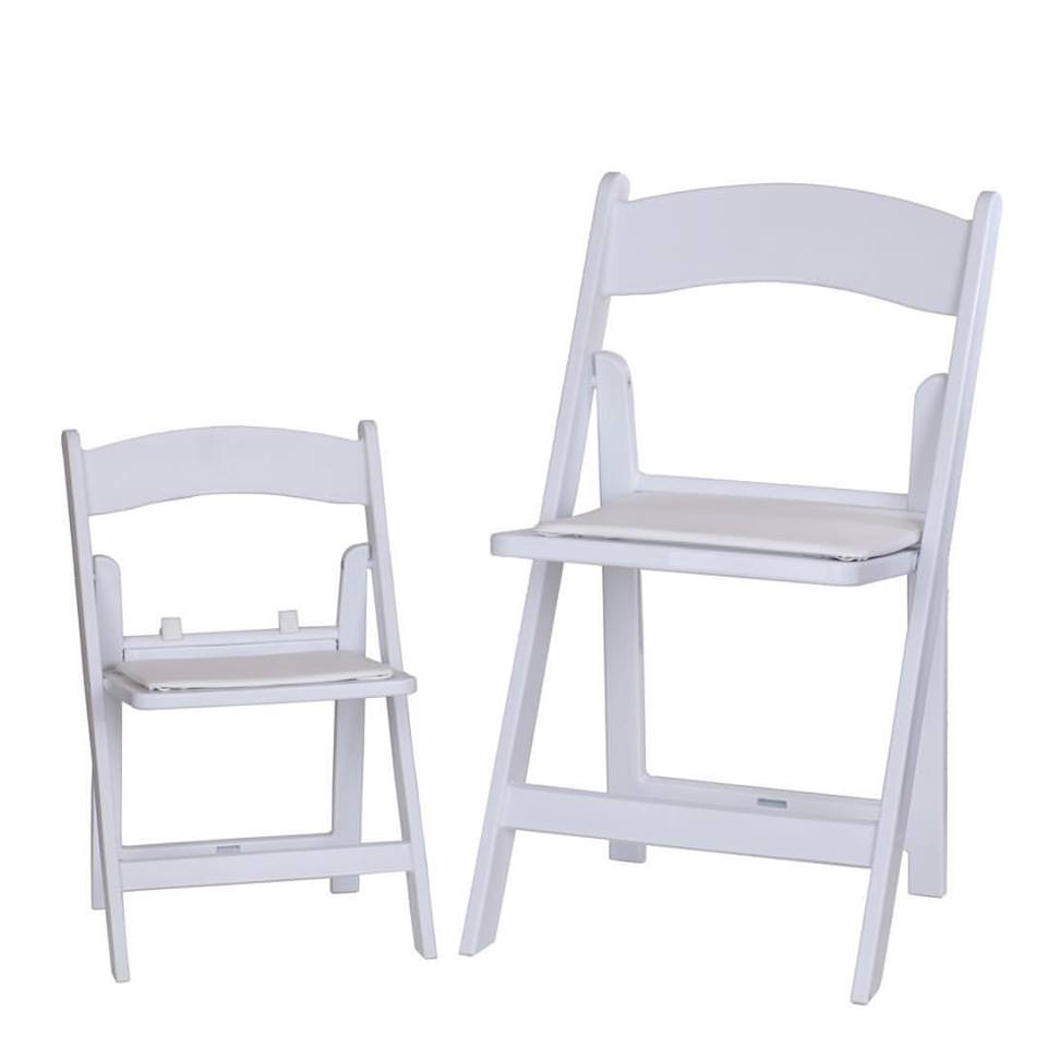 WHITE FOLDING CHAIRS FOR RENTAL