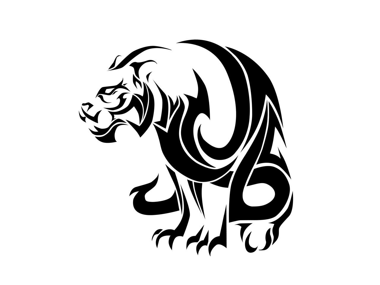 Big Tribal Tiger Tattoo Design Idea Tattoo Design Ideas