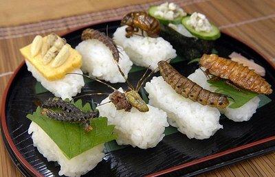 Gambar | Sushi Perisa Serangga di Jepun
