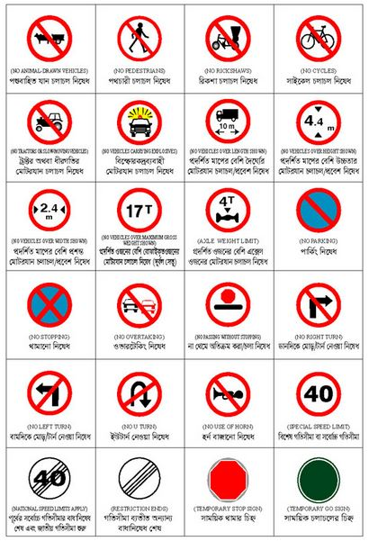 drivers license exam signs