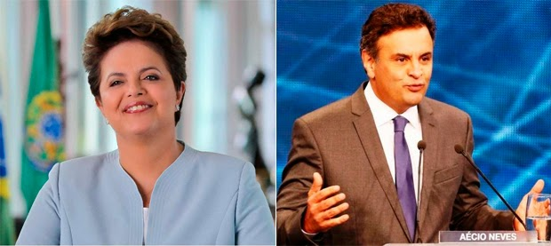 Dilma Rousseff e Aécio Neves se enfrentam pela presidência no segundo turno