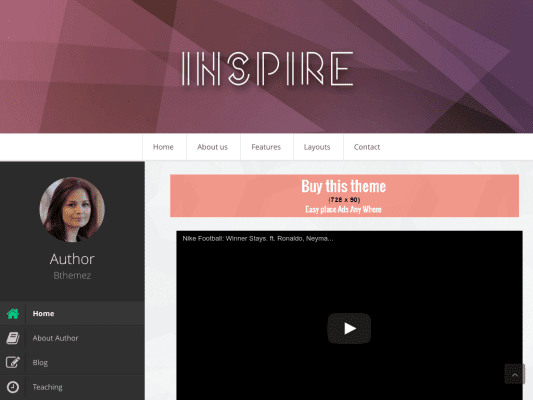 Inspire Responsive Blogger Template