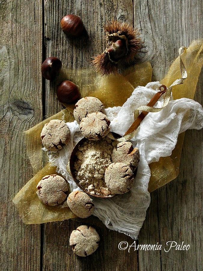 Biscotti Craquelés di Chufa e Castagne alla Vaniglia di Armonia Paleo