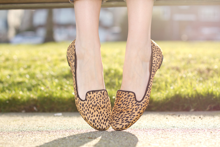 Zara Leopard Print Loafers