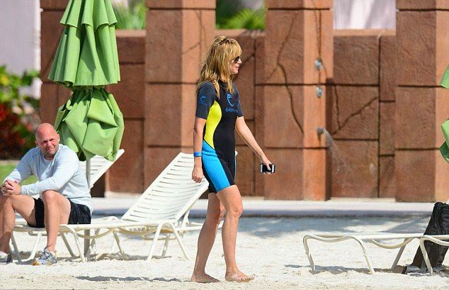 Heidi Klum Is Pretty In Bikini In The Bahamas on Wednesday,‭ ‬March‭ ‬26,‭ ‬2014‭