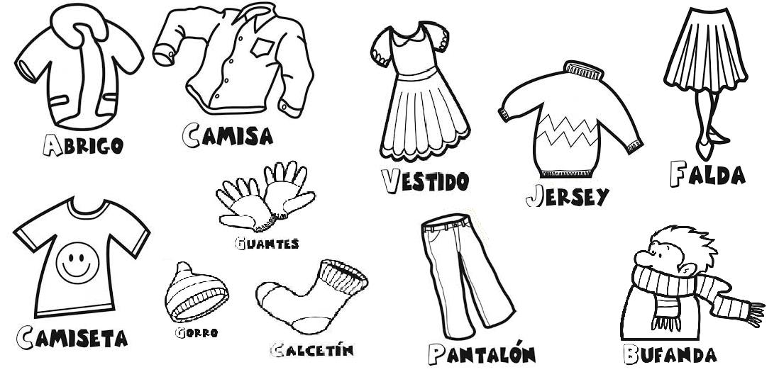 Educación infantil: Imagen de ropa