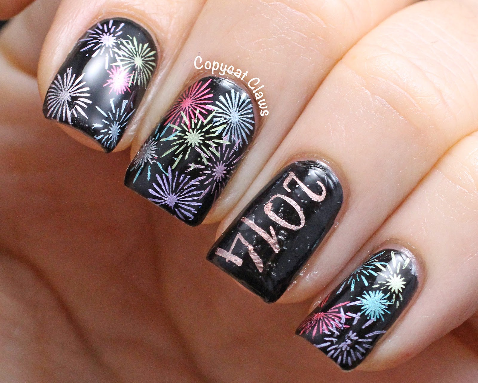 Toe Nail Designs Fireworks ~ Firework nails new year s eve