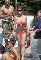 Amy Childs Pink Bikini Marbella