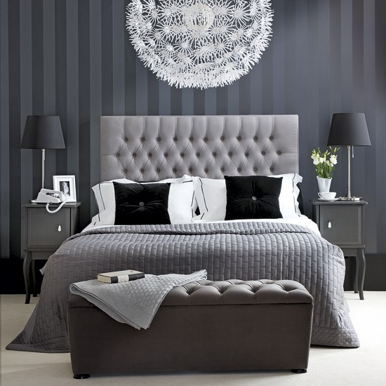 Black And White Bedroom Decorating Ideas | Onceuponateatime