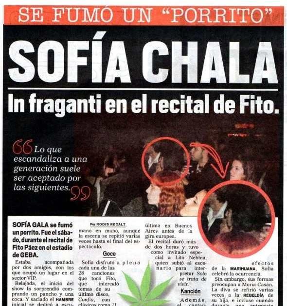 El porrito de sof a gala noticu ntalo show del espect culo for Diario el show del espectaculo