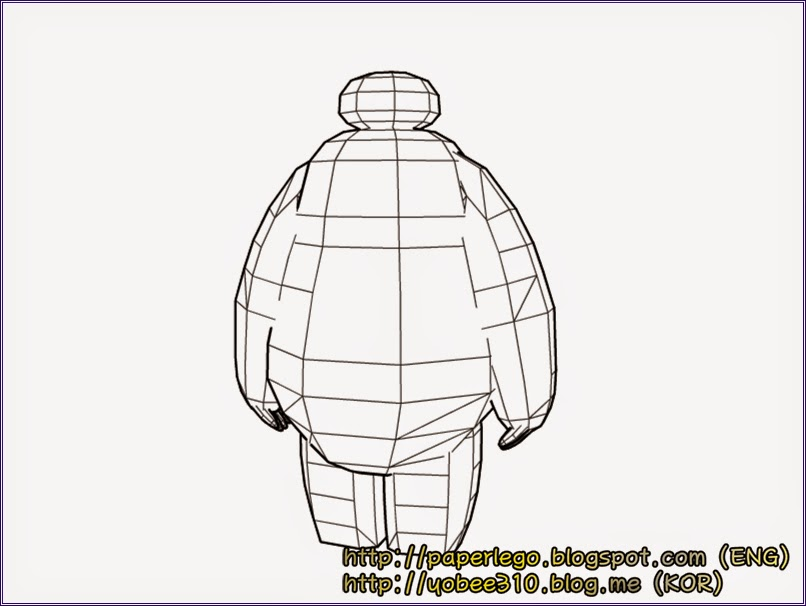 Baymax Big Hero Papercraft Design