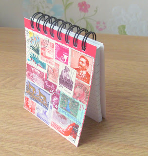 Handmade stamp notebook