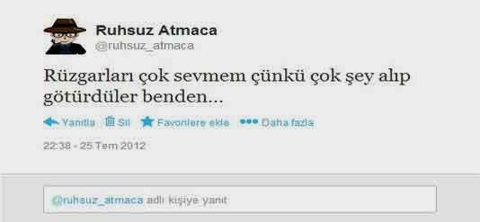 Ruhsuz Atmaca'nın İlk Tweetti
