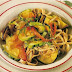 Tallarines con verduras asadas