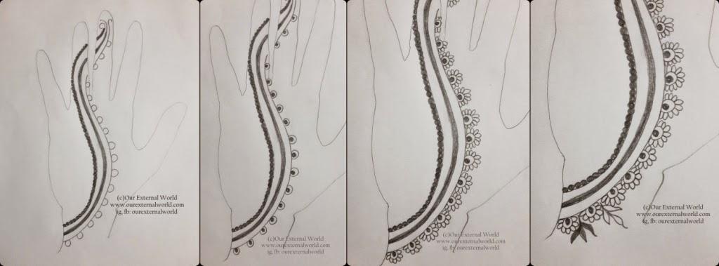 Mehndi Design Tutorial Step By Step : Diy mehndi design henna pattern tutorial