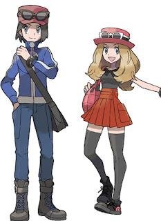 Pokémon X & Y: novos monstrinhos, trailer, imagens, personagens e o primeiro ginásio Pok%C3%A9mon-X-e-Y-main-characters-protagonistas-game-blast-nintendo