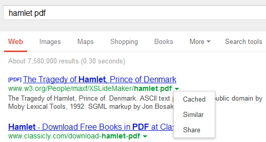 how to search for a pdf on google