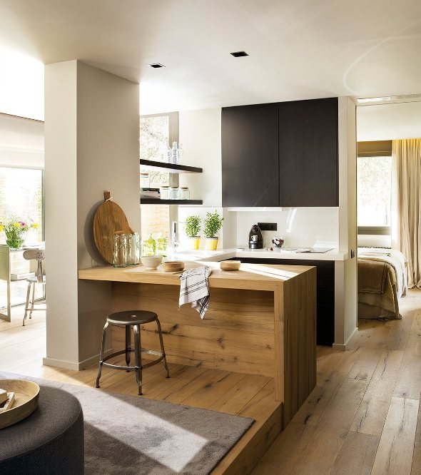 micro vivienda revestida de madera