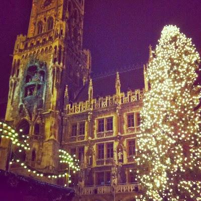 Marienplatz, Monaco, albero di Natale