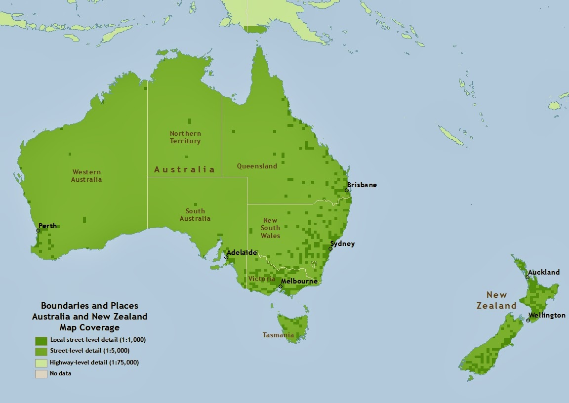 australia and new zealand map - Ecosia