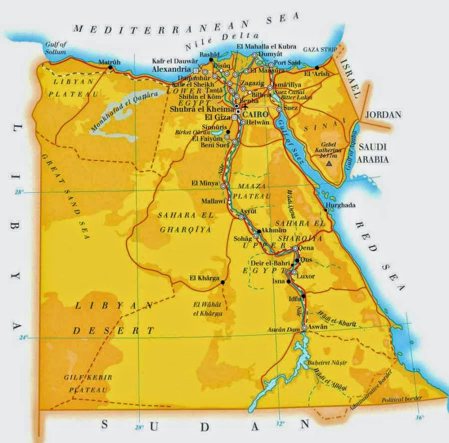 Handy image pertaining to printable map of egypt