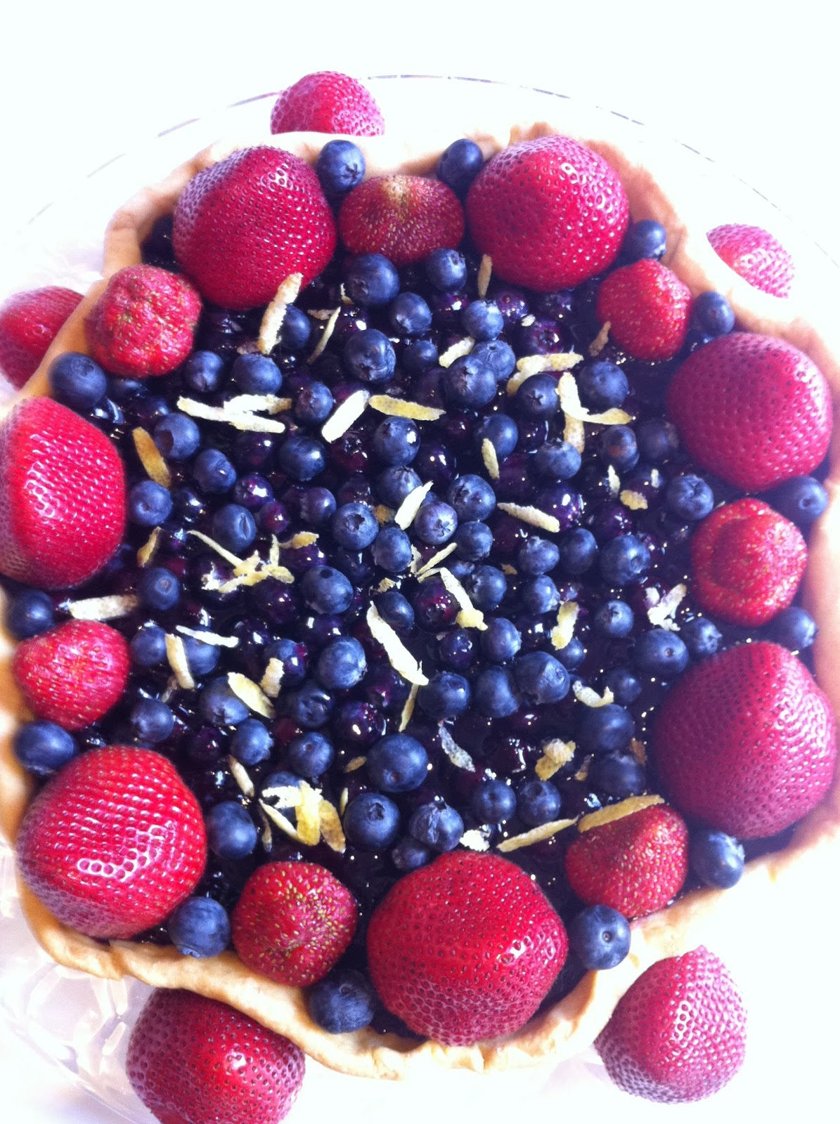 Kosher Cookbook App: Strawberry-Blueberry Tart (recipe ...