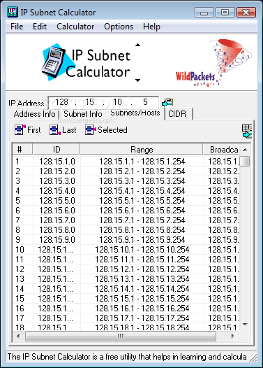 ip subnet calculator Classless inter-domain routing (cidr) cidr is a system used for allocating ip addresses and routing ip packets in short, ip addresses are considered to have two parts: the network address and the host identifier.