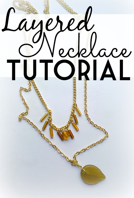 D.I.Y. Tutorial for a stylish layered necklace | Funky Jungle blog