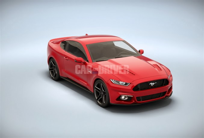 rendering by caranddriver com 2014 ford mustang rendering by
