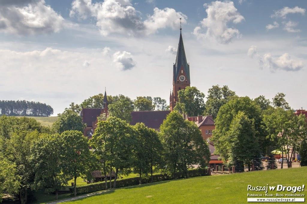 Widok z kalwarii na Bazylikę w Gietrzwałdzie