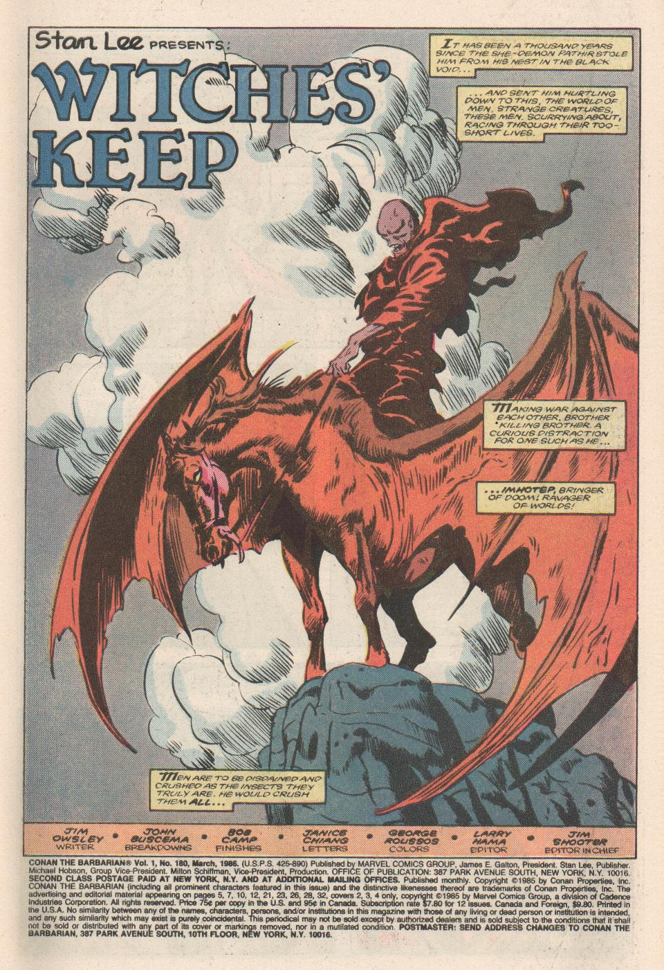 Conan the Barbarian (1970) Issue #180 #192 - English 2