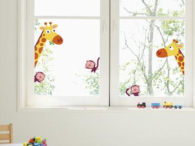 Decoraciones y hogar decoraci n de la habitaci n del beb for Pegatinas decoracion bebe