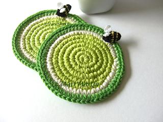 Crochet Coasters Lemons